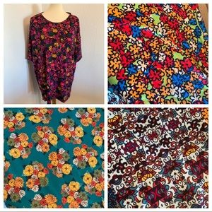 Bundle of 4 LulaRoe Irma Tunic Tops S Floral